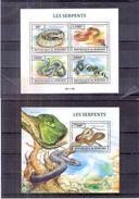 Serpents - 2013 - Burundi BL.616-617 - XX/MNH - Cote=28,00 € - Serpents