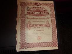 MINES DU SEMNON (bénéficiaire) 1910 - Unclassified