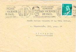 26967. Carta BARCELONA 1982. Rodillo Especial Nacimiento San Vicente De Paul - 1931-Hoy: 2ª República - ... Juan Carlos I