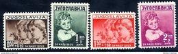 YUGOSLAVIA 1938 Child Welfare Set LHM / *.  Michel 350-53 - 1931-1941 Regno Di Jugoslavia