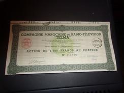 TELMA Compagnie Marocaine De Radio-télévision (casablanca,maroc) - Shareholdings