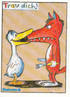 Tiere / Animals / Cartoon: Gans / Fuchs (D-A203) - Animaux & Faune