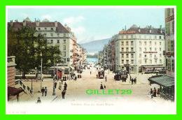 GENEVE, SUISSE - RUE DU MONT BLANC - ANIMÉE -  C. P. N. -  ENDOS NON DIVISÉ - - GE Genève