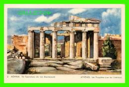 ATHÈNES, GRÈCE - LES PROPYLÉES VUE DE L'INTÉRIEUR - DELTA - - Grèce