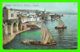 TIBERIAS, ISRAEL - VOM SEE AUS - ANIMATED WITH SHIPS - - Israel