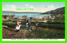 TIBERIAS, ISRAEL - VUE GÉNÉRALE - ANIMATED WITH PEOPLES - - Israel