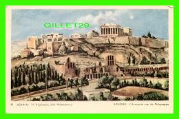 ATHÈNES, GRÈCE - L'ACROPOLE VUE DE PHILOPAPPE -  DELTA - - Grèce
