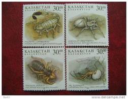 Kazakhstan  1997  Insects   4 V MNH - Kasachstan