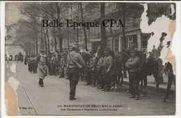 75 - PARIS - Manifestation Du 1er Mai - Les Chasseurs à Cheval Au Luxembourg +++++ ELD / E. Le Deley ++++ ÉTAT - France