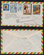 Bolivia 1984 Registered Airmail Cover LA PAZ To RIO Brazil Control Postmark - Bolivie