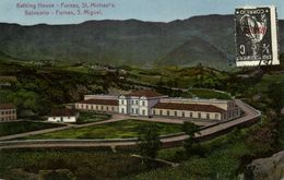 Portugal, Azores Acores, SAÕ MIGUEL, Furnas, Bathing House (1923) Postcard - Açores