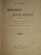064 / LIVRE / MEMOIRES D'UNE ENFANT - 1866 - 303 Pages - 1801-1900