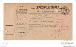75 8948 PARIS SEINE 19.. PETITES AFFICHES Journal Annonces Judiciaires Rue Montesquieu - Druck & Papierwaren