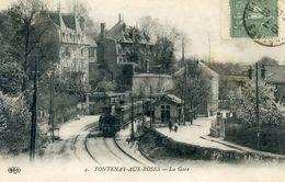 92  FONTENAY AUX ROSES  LA GARE AVEC TRAIN - Fontenay Aux Roses