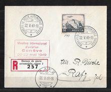 MEETING INTERNATIONAL D'AVIATION GENÈVE 20.-22. MAI 1949 → R-Brief  Rafz 23.V.49  ►SBK-F43◄ - Luftpost