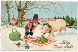 1936 MAIALE GNOMO TRIFOGLIO HUMAN TREE PIG CLOVER DWARF COCHON  NAIN ERIKA 6129 ALBERO UMANIZZATO - Illustratori & Fotografie