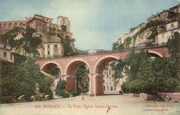 Monaco, Le Pont, Êglise Sainte-Dévote (1910s) Postcard - Monaco