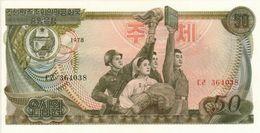 KHOREA NORTH 50 WON 1978 PICK 21a UNC - Korea, Noord