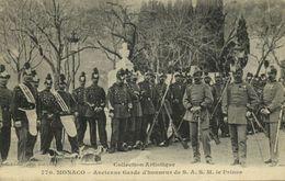 Monaco, Ancienne Garde D'honneur De S.A.S.M. Le Prince, Medals (1908) Postcard - Monaco