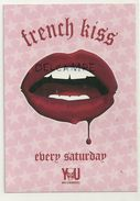 "Carte Boomerang.  Bruxelles You Night Club ""French Kiss"" - Bruxelles La Nuit"