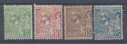 MONACO - 1901 - N° 22 à 25 - Neufs X Traces De Charnières Propres - Cote 28.50 € - B/TB - - Nuevos