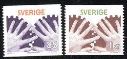 Sweden 1976 Osh, Occupational Safety, Hands And Gears. Mi 964-965 MNH(**) - Schweden
