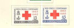 New Hebridi 1963 Red Cross Nuovi Scott.94+95+See Scans - Leggenda Inglese