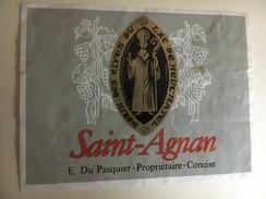 6369 - Concise Saint-Agnan E.Du Pasquier Suisse - Etiquettes