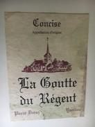 6371 - Concise La Goutte Du Régent Pierre Duruz YverdonSuisse - Labels