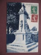 CPA 29 RIEC SUR BELON Monument Aux Morts RARE SEPIA BLEUTEE 1920 30 ?  Canton MOELAN SUR MER - France