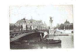"""Cpm - 75 - Paris 1900 - Pont Alexandre III - 1987 - Bateau Péniche """"LOIRET """" - De Seine En Haar Oevers"""