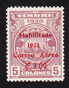 Costa Rica, Scott #C12, Mint Hinged, Revenue Surcharged, Issued 1931 - Costa Rica