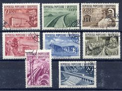 ALBANIA 1953 Reconstruction Definitive Set Used.  Michel 525-32 - Albania