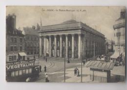 DIJON  - 1910 - Le Théâtre Municipal  - Gros Plan Sur Tramway  - Animée - Dijon