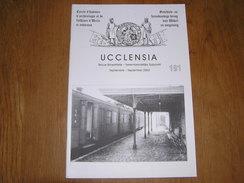 UCCLENSIA Revue N° 191 Régionalisme Brabant Uccle Rhode Baudry Carloo Gare Stalle Adge De Hel 1940 Florine Hélicoptère - Bélgica