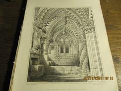 Planche D'architecture Rosslyn Chapel - The Eastern Aisle BILLINGS Milieu 19e - Architecture