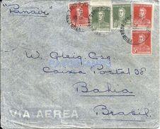 84369 ARGENTINA COVER PANAIR YEAR 1935 CANCEL AEROPOSTAL CIRCULATED TO BRAZIL BRASIL NO POSTCARD - Non Classés