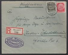 DR Einschreiben Firmenbrief Fuhrhalter Bauindustrie 1938 Allenstein Nach Berlin K727 - Deutschland