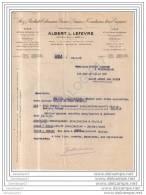 59 1618 LILLE NORD 1927 Rizs Produits Coloniaux ALBERT LEFEVRE Palais De La Bourse Et  PARIS Rue Boetie - Alimentare