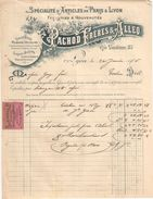 Facture  Commerciale Ancienne & Billet à Ordre/Soieries/ PACHOD Fréres & ALLEO/Rue Vendôme/LYON//1905   FACT304 - Textile & Vestimentaire