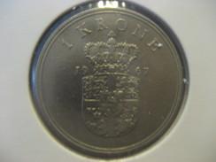 1 Krone 1967 DENMARK Danemark Coin - Denmark