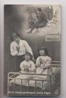 POILUS Dans La Tranchée - Prière Au Soldat - JÉSUS PROTÉGEZ NOTRE PAPA - Animée - Guerre 1914-18