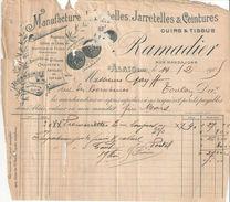 Facture  Commerciale Ancienne & Billet à Ordre/RAMADIER/ Manufacture Bretelles Jarretelles/ALAIS/Gard//1905   FACT305 - Textile & Vestimentaire