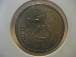 1 M 1966 FINLAND Finlande Coin - Finland