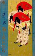 CPA Kirchner Raphaël Art Nouveau Femme Girl Circulé En 1901 Japon Japan Asie - Kirchner, Raphael