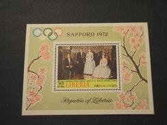 LIBERIA - BF 1971 SAPPORO/FIORI - NUOVO(++) - Liberia