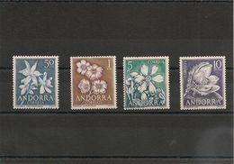 ANDORRE ESPAGNOL Fleurs  Année 1966  N° Y/T : 61/64** - Neufs