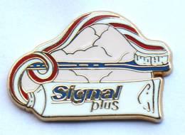 Pin's SIGNAL PLUS - Le Tube De Dentifrice Et La Brosse à Dents - Zamac - Arthus Bertrand - G1127 - Arthus Bertrand