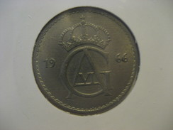50 Ore 1966 SWEDEN Suede Coin - Sweden