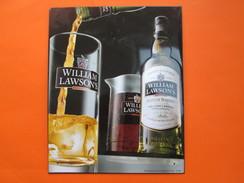 PLAQUE PUBLICITAIRE FER OU TOLE SCOTCH WHISKY WILLIAM LAWSON'S 24 X 30 Cm - Advertising (Porcelain) Signs